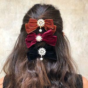 Hair Bow Tie Barrette